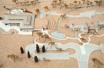 passive solar and geothermal hot springs model