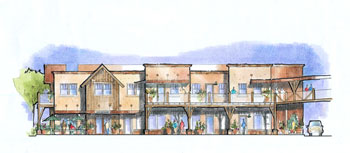 elevation of sustainable commercial center